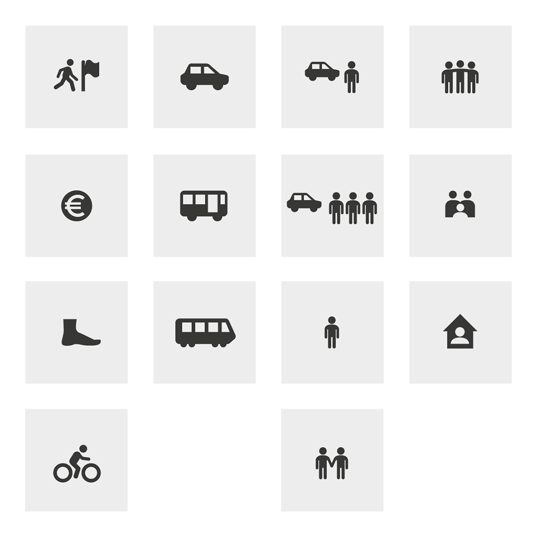 The icons in the diagram.