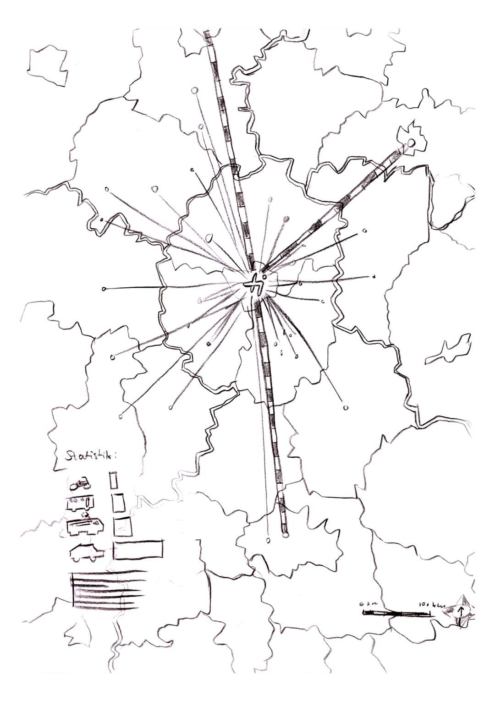 Jeder Punkt auf der Karte zeigt, woher die Studenten zur THI kommen.