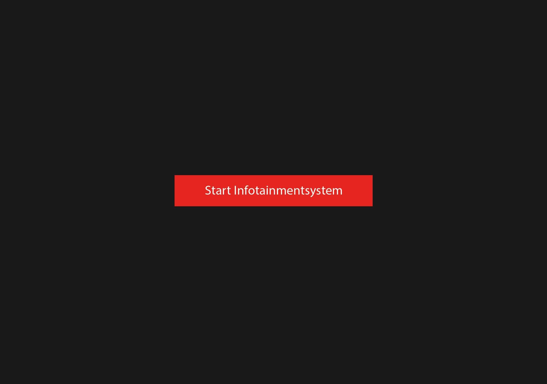 Screen Mercedes – Start screen.