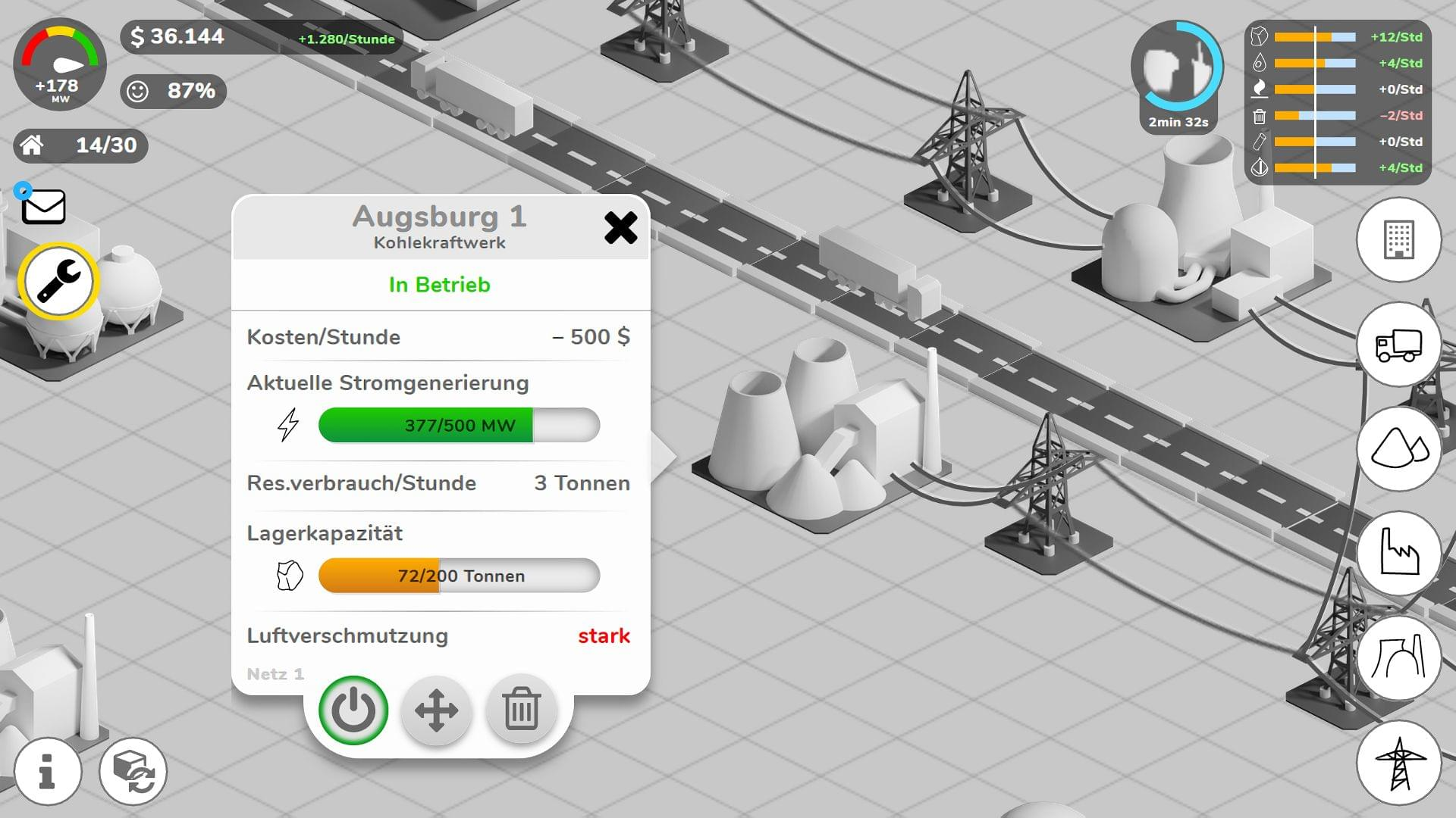 Prototype Axure - Info window for power plant